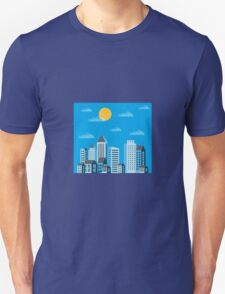 City  in a flat style  Unisex T-Shirt