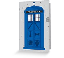 The Tardis Got Some Ink Greeting Card