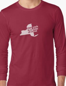 New York is a state of mind - Small white Long Sleeve T-Shirt