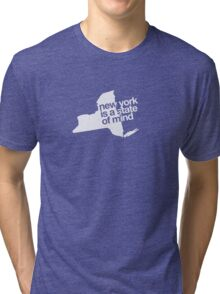 New York is a state of mind - Small white Tri-blend T-Shirt