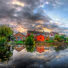 Suburban Sunrise Panorama by Yhun Suarez