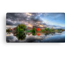 Suburban Sunrise Panorama Canvas Print