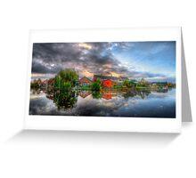 Suburban Sunrise Panorama Greeting Card