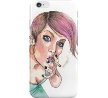punk girl iPhone Case/Skin