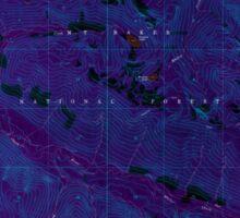 USGS Topo Map Washington State WA Pugh Mountain 243302 1966 24000 Inverted Sticker
