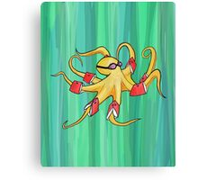 Awkward Octopus Canvas Print