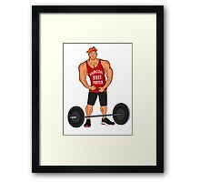 Hercules Whey Protein Framed Print