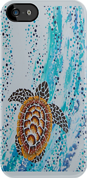 Aboriginal Sea Turtle Case by Ron Hannah