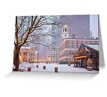 Faneuil Hall in Snow Greeting Card