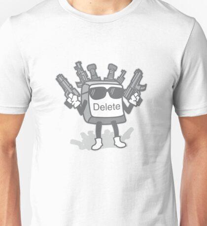 Delete Button Unisex T-Shirt