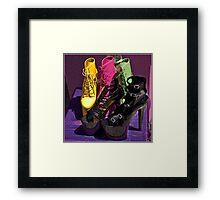 Fashionista footwear Framed Print