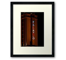 Palazzo Hotel and Casino on Veterans Day 2011, Tall Shot Framed Print
