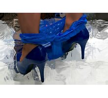 BLUE SHOES Photographic Print
