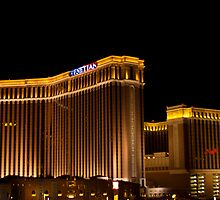Wide Shot of the Venetian Hotel and Casino on Veterans Day 2011 by Henry Plumley