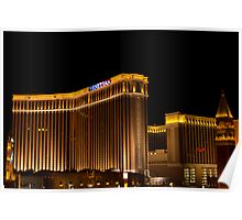 Wide Shot of the Venetian Hotel and Casino on Veterans Day 2011 Poster