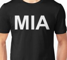 MIA (Missing in Action)  (Reversed Colours) Unisex T-Shirt