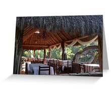 Palapa - traditional restaurant down by the river - tradiconal restaurante cerca del rio Greeting Card