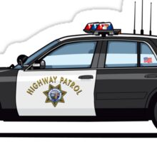 California Highway Patrol Ford Crown Victoria Police Interceptor Sticker