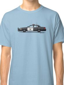 California Highway Patrol Ford Crown Victoria Police Interceptor Classic T-Shirt
