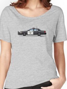 California Highway Patrol Ford Crown Victoria Police Interceptor Women's Relaxed Fit T-Shirt