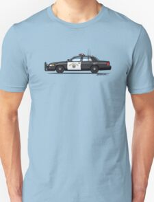 California Highway Patrol Ford Crown Victoria Police Interceptor Unisex T-Shirt