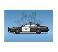 California Highway Patrol Ford Crown Victoria Police Interceptor Art Print