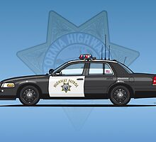 California Highway Patrol Ford Crown Victoria Police Interceptor by Tom Mayer