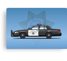 California Highway Patrol Ford Crown Victoria Police Interceptor Canvas Print