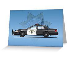 California Highway Patrol Ford Crown Victoria Police Interceptor Greeting Card