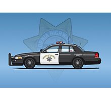 California Highway Patrol Ford Crown Victoria Police Interceptor Photographic Print