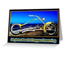 Daytona Beach Chopper Dreaming Yellow Gold jGibney The MUSEUM RedBubble Gifts Greeting Card