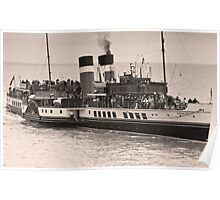 Waverley Paddle Steamer In Sepia Poster