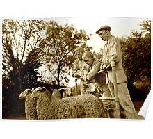 SHEEP FARMERS - Sculpture Poster