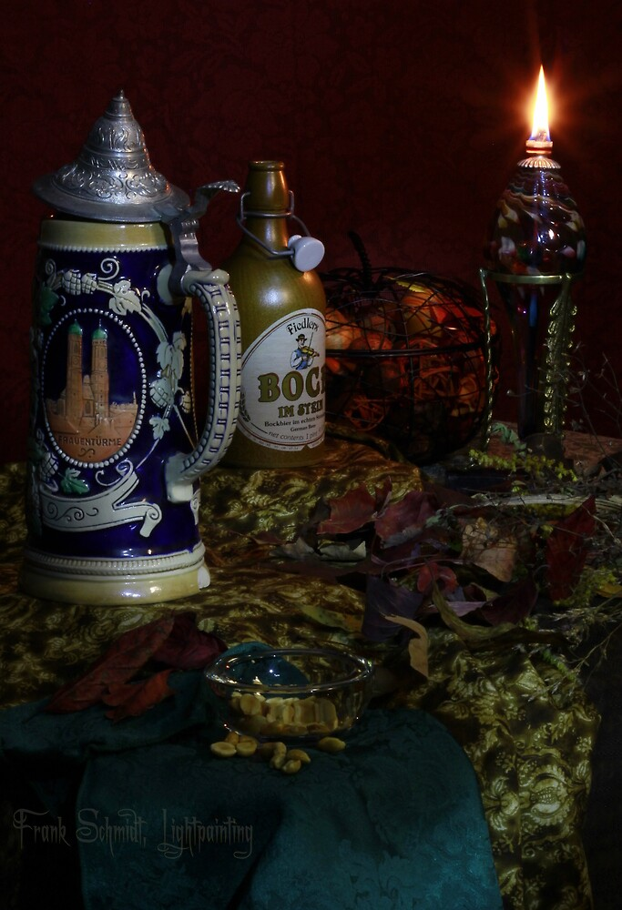 Beer Stein, peanuts and Autumn Leaves (Canon 60D) by FrankSchmidt