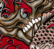 skull with koi fish  Sticker
