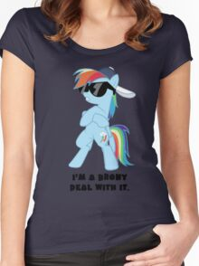 I'm a Brony Deal with it. (Rainbow Dash) - My little Pony Friendship is Magic Women's Fitted Scoop T-Shirt