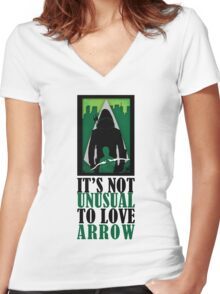 Not Unusual - Arrow Women's Fitted V-Neck T-Shirt