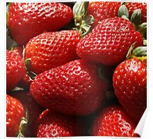 Red Fresh Strawberry Poster