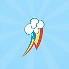 Rainbow Dash Cutie Mark (Small) Iphone Case by carnivean