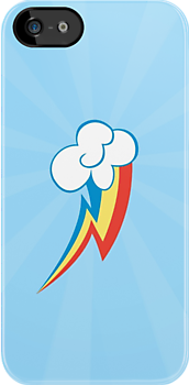 Rainbow Dash Cutie Mark (Small) ( Phone Case) by carnivean