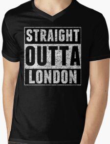 Straight Outta London Mens V-Neck T-Shirt
