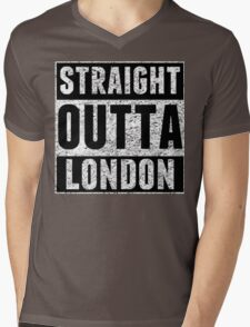 Straight Outta London Mens V-Neck T-Shirt