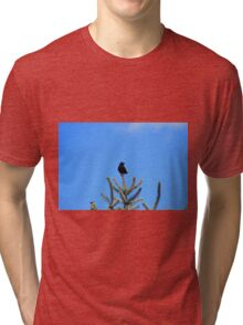 Red Winged Blackbird Perched on a Tree Tri-blend T-Shirt