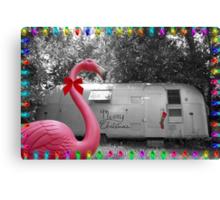 Holiday Pink Flamingo Canvas Print