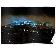 Edinburgh Castle Freezing Fog Poster