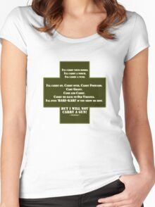 I Will Not Carry a Gun Women's Fitted Scoop T-Shirt