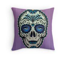Sugar Skull (Calavera) by Adam Miconi Throw Pillow