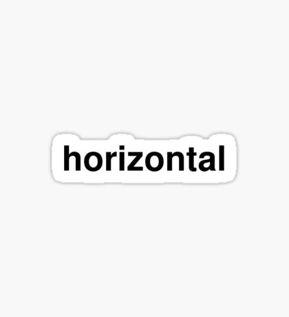 horizontal Sticker
