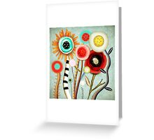 The days blur into one moment Greeting Card