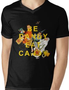 Be Dandy Eat Candy Mens V-Neck T-Shirt